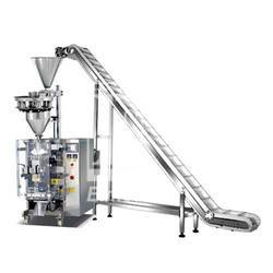 Two Head Single Phase Pneumatic Intermitent Collar Type VFFS With Linear Weigher