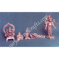 Copper Ganesh With Silver Polish