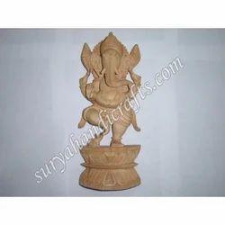 Wooden Standing Ganesh