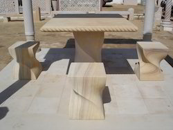 Marble Stone Bench