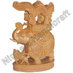 Wooden Handicraft Royal Elephant
