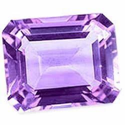 Amethyst Octagon Cut Gemstone