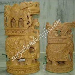 Wooden Elephant Ambabadi