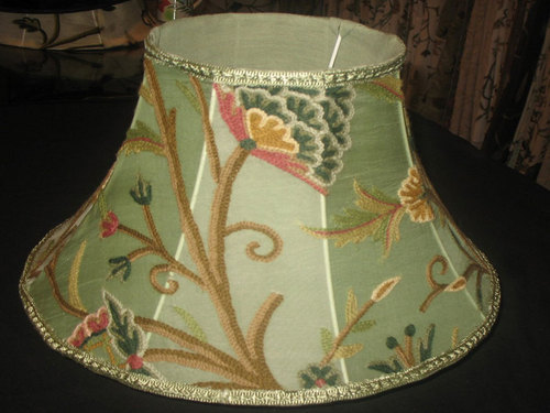 Crewel lampshades crewel embroidered tapered drum miranda off crewel lampshades crewel embroidered tapered drum miranda off white manufacturer exporter from hyderabad aloadofball Choice Image