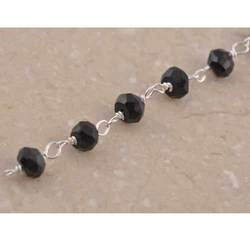 Silver Beaded Chain Pyrite Stone