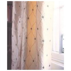 More than 20 colors available Printed Silk Curtains
