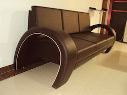 Simple BROWN Leather Sofa