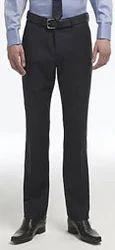 Blue Pick & Pick Flat-Front Kings Fit Wool Blend Suit Trousers