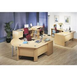 Plywood Office Workstation Furniture