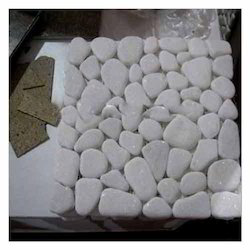 White Mosaic Stone, Size: 60x60 cm, Thickness: 10-20 mm