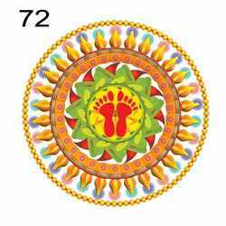 Rangoli Printed Stickers