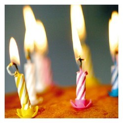 Designer Birthday Candles