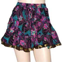 Printed JaipurOnlineShop Womens Designer Ethnic Crinkle Short / Mini Skirt