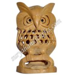 Wooden Kadam Wood Jali Owl