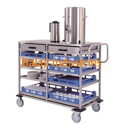 SS Tea Serving Trolley