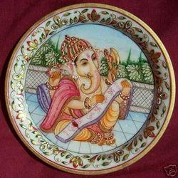 Marble Plate Ganpati Painting