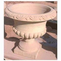 Carved Sandstone Pot