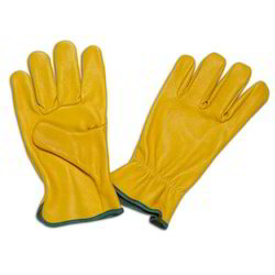 Grain Water Repellent Safety Leather Glove