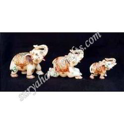 Marble Painting Elephant Set