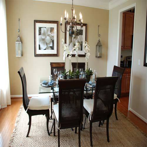Kenya Furniture Dark Brown Designer Dining Table Set
