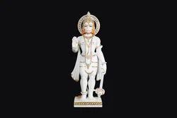 HU-0030 Marble Hanuman Statue Standing