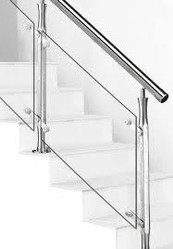 Nice Stainless Steel Glass Staircase