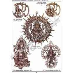 Brass Suraj Ganesh Wall Plate