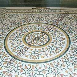 Marble Inlay Flooring Service, Minimum Flooring Area: 100 Sq Ft