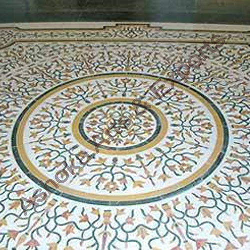 Inlay Panel Marble Inlay Flooring Service Exporter From