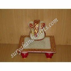 Marble Chowki Ganesh Painting
