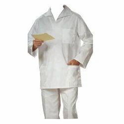Unisex White Hospital Garment