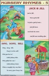 Jack & Jill Ding Dong Bell For  Nursery Rhymes Chart