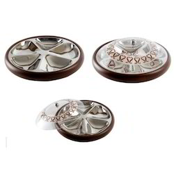 Wooden Revolving Dry Fruit Tray