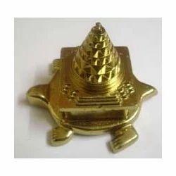 Panchadatu Meru Kashyap Shree Yantra (24 Carat Gold Plated)