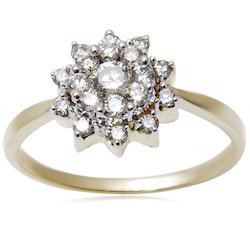 Flower Diamond Rings