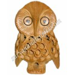 Wooden Jali Owl With Kadam Wood