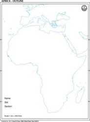 Africa Outline of Map