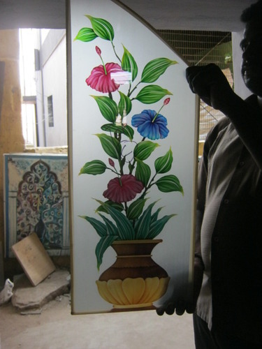 Flower Glass Painting Designs View Specifications Details Of