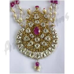 Antique-look Diamond Polki Necklace