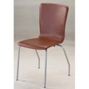 Stainless Steel Brown L Shape Cushion Chair