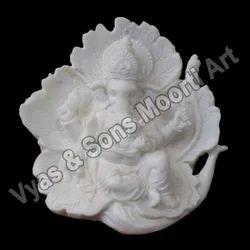 GA-4096 Ganesha White Marble Moorti