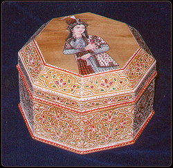 Sandalwood Hand Painted Box (Gift Items)