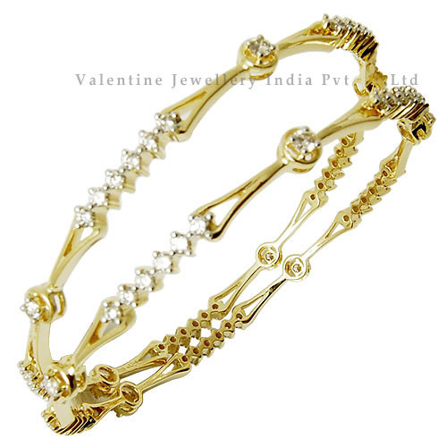 Diamond Gold Bangles