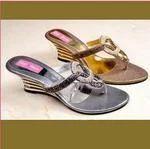 Golden And Silver Fancy Footwear