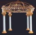 Crown Mandap White Gold
