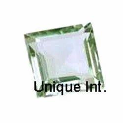 Green Amethyst Squares Cut Gemstone
