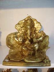 Patta Ganesh Ji Brass