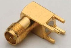SMA Female RP Right Angle PCB Mount Connector