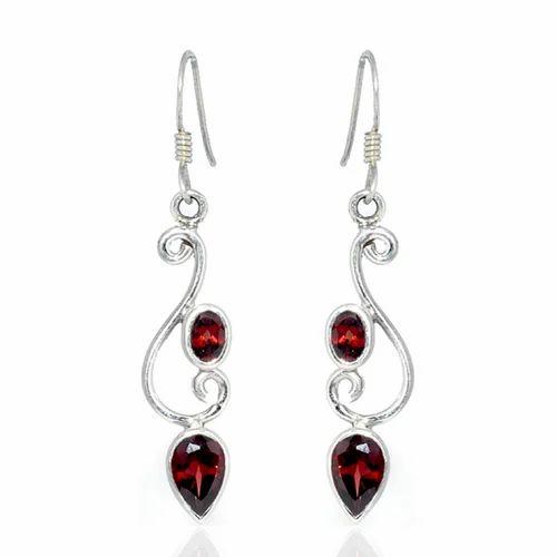 Sterling Silver Earrings Whole Gemstone Jewelry