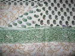 Casual Wear Bagru Hand Block Pigment Print Chiffon Suit Set